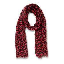 Black & Red Poppy Scarf Small Poppies