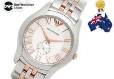 Classic Emporio Armani AR1824 Two Tone Silver Rose Gold Roman Dial Men's Watch
