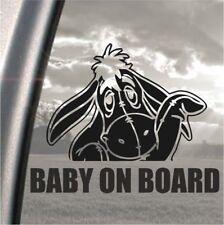 Eeyore winnie pooh disney Baby on Board bumper car, window, ipad, laptop sticker