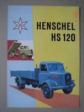 HENSCHEL  HS 120 Lastwagen  brochure / Prospekt  1958.