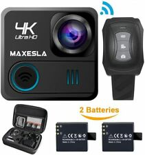 "Cámara De Video Cámara de acción deportiva maxesla 4K 2"" Wifi Hd 16MP Impermeable Con Estuche"