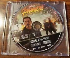 New 2018 Marvel Comics Disney Avengers Infinity War 4K UHD Blu Ray Disc Only