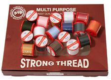 48 STRONG THREAD POLY-COTTON 50 Metre Reels BOX , High Quality Made In ENGLAND