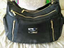 Auth. GIANNI VERSACE COUTURE Runway Handbag blue/black