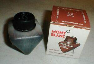 Vintage Montblanc Coffee Brown Fountain Pen Ink Tint Original Box  #3 58ml 2oz