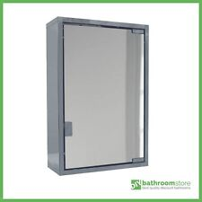 Stainless Steel Single Door Wall Mount Bathroom Cabinet Storage Cupboard Mirror