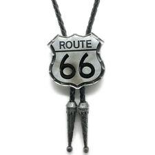 Adjustable Route 66 Bolo Tie Necktie Western Cowboy Cowgirl Motorcyclist (BT-66)