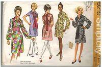 9219 Vintage Simplicity Sewing Pattern Misses Dress Two Lengths Sash 1970's OOP