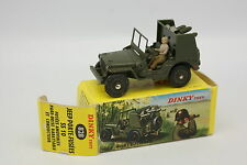 Dinky Toys F Militaire 1/43 - Jeep Willys Porte fusées SS10 828  + Boite
