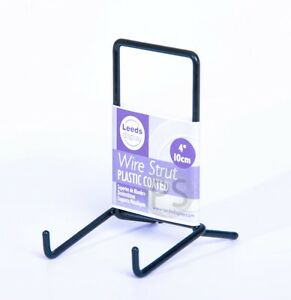 """Black Wire SMALL Display Stand 10cm, 4"""" : Strut Plate Picture Frame Photo ST02BL"""