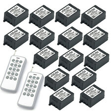 1CH Channel Relay Wireless Remote Control Switch Set AC 220V 2 Transmitter 150M