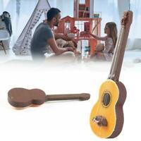 1:12 Puppenhaus Miniatur Gitarre Zubehör Instrument Puppenhaus Ornament S6K4