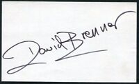 DAVID BRENNER SIGNED 3X5 INDEX CARD STAND UP COMEDIAN COMEDY ACTOR JOHNNY CARSON