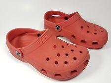 Crocs red sandals M2 W4 uk 2