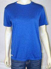 Starter BLUE Solid Print Polyester Short Sleeve Athletic Basic T-Shirt Small