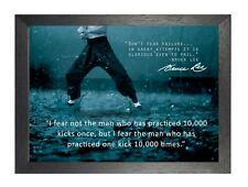 Bruce Lee 63 Hong Kong American Actor Film Director Martial Arts Quote Poster