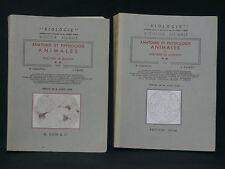 ANATOMIE ET PHYSIOLOGIE ANIMALES - 2 volumes J. PANIEL R. CHANTON - 1966
