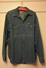 Pepe Jeans Denim Brand Herren Hemd Freizeithemd  Vintage Look Blau Gr L