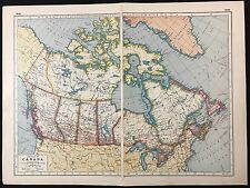 Vintage Map 1920, Dominion of Canada - Harmsworth's Atlas - A3BK3