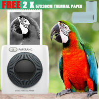 PAPERANG P2 Portable Bluetooth Wireless Receipt Photo Printer + 2x Thermal Paper
