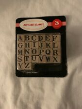 Alphabet Stamps. Small Print 26 Count. Ideal For Scrapbook, Stationary, Gifts
