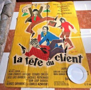 "40""x60"" HUGE 1965 FRENCH MOVIE POSTER affiche du film TETE DU CLIENT"