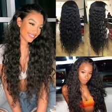 Brazilian Hair Wig Long Curly Black Synthetic Full Wigs With Baby Hair For Women