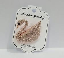 Swarovski Accessories Duck goose handmad Crystal Brooch Rose Gold Luxury Swan