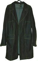 Bisou Bisou Michele Bohbot Stretch Dark Wash Denim Cotton Blend Coat Jacket~2X