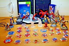 LOT OF 45 DISNEY INFINITY LOT CHARACTERS BASE POWER DISCS XBOX 360 VIDEO GAMES