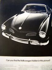 1970 Volkswagen  Karmann Ghia  Find The VW Original Print Ad 8.5 x 11""