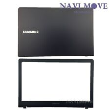 New Samsung NP470R5E NP510R5E LCD Back Cover Dark Blue W/ LCD Front Bezel USA