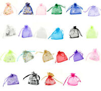 US 100X Organza Gift Bags Jewelry Candy Bag Wedding Favors Mesh Gift Pouches US