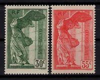 P131851/ FRANCE STAMPS / SAMOTHRACE / Y&T # 354 MH – 355 MNG - CV 196 $