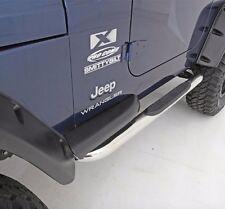 """Smittybilt Sure Step 3"""" Stainless Steel Sidebars 87-95 Jeep Wrangler YJ JN44-S2S"""