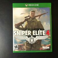 Sniper Elite 4: Italia Video Game (Microsoft Xbox One, 2017) Used & Tested