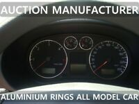 Audi A3 S3 8L 1996-2003  Chrome Dial Surrounds Gauge Rings Polished Alloy New X4