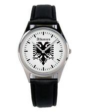 Albanien Wappen Souvenir Geschenk Fan Artikel Zubehör Fanartikel Uhr B-1173