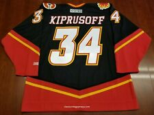 Miikka Kiprusoff Vintage Calgary Flames CCM Jersey Horse Head