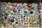 110 Piece Lot Advertising & Political Campaign Pinback Buttons 1890s-1920s ORIG.