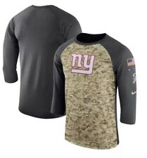 NWT 40 WOMENS Nike OnField NY Giants Camo Salute To Service 3 4 Tee Shirt 786a81d8cc