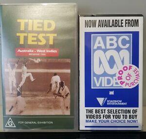 Tied Test Australia v West Indies  1960 Cricket VHS New ROADSHOW ENTERTAINMENT
