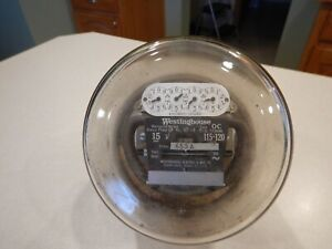 WESTINGHOUSE OC TYPE S 2 WIRE SINGLE PHASE 15 AMP 115-120 VOLT ELECTRIC METER