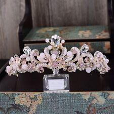 Bridal gold/pink crystal tiara