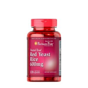 Red Yeast Rice, from Puritans Pride. 120 capsules, 600 mg each