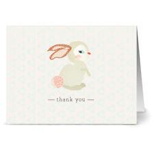 24 Thank You Note Cards - woodland rabbit - Kraft Envs