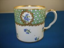 More details for sevres style  cup green gold blue flowers