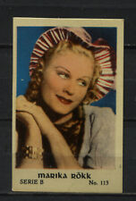 Marika Rokk Vintage Movie Film Star Trading Card No. B113