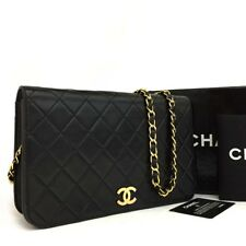 CHANEL Quilted Matelasse 23 CC Logo Push Lock Lambskin Chain Shoulder Bag/394