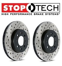 For Audi A4 Q Set of Rear Left & Right Drilled & Slotted Brake Discs StopTech